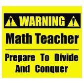 Math teacher----HD. I love this!