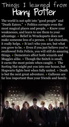 What Harry Potter taught me :)