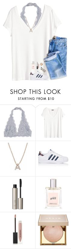 """❥wondering if I dodged a bullet or just lost the love of my life"" by pineapple5415 ❤ liked on Polyvore featuring H&M, Bony Levy, adidas, Ilia, philosophy, Burberry, Stila and AK Anne Klein"