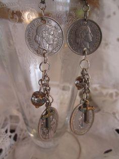 vintage repurposed jewelry religious assemblage by atelierparis, $52.00