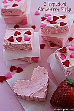 Strawberry Fudge Great for Valentine's Day