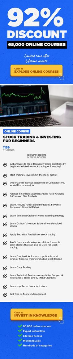 Stock Trading & Investing for Beginners Finance, Business #onlinecourses #onlineeducationfree #onlinelessonslink3-in-1 Course Bundle for Stock Market Beginners - Learn financial & technical analysis for stock trading & investing Latest News:Indian Insight Founder & Instructor of this course, Yash Utmani was ranked 8th in Position Trading &12th in Day Trading in Equities Segment in the last c...