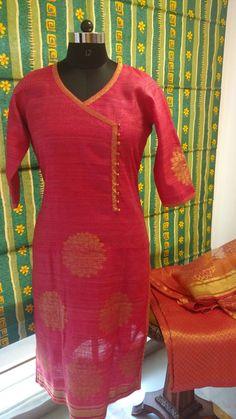 Banaarsi net..Angrakha style,with potlis ,banaarsi zari dupatta and trousers in silk... From  Malvika's attire line
