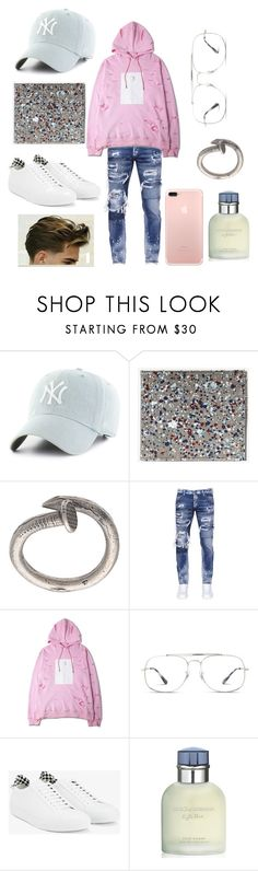 """""""Ely"""" by vejacomotenpovoa ❤ liked on Polyvore featuring Maison Margiela, M. Cohen, Dsquared2, Ray-Ban, Givenchy, Dolce&Gabbana, men's fashion and menswear"""
