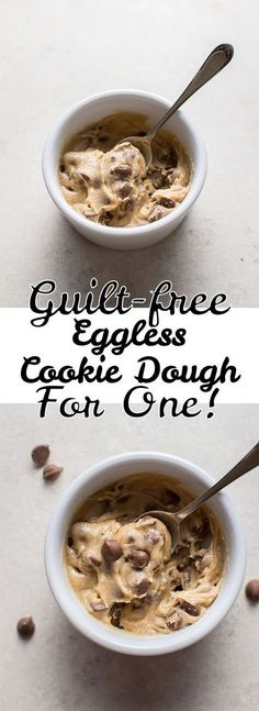 My guilt-free eggless chocolate chip cookie dough for one is the perfect portion-controlled treat. Ready in only 5 minutes! My guilt-free eggless chocolate chip cookie dough for one is the perfect portion-controlled treat. Ready in only 5 minutes! Vegan Desserts, Delicious Desserts, Dessert Recipes, Yummy Food, Oreo Desserts, Plated Desserts, Chocolate Desserts, Cookie Dough For One, Cookie Dough Recipes