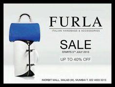 FURLA Italian Handbags Sale - Up To 40% off from 5 July 2013   Deals, Sales, Offers, Discounts in Mumbai   mallsmarket.com