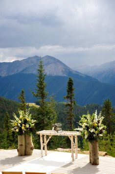 Wedding Deck- Aspen, Colorado