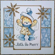 LOTV - James Bear Snow Angel with Frosty Christmas Paper Pad by Squirrel