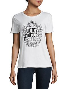 6ff1ec1fe10f JUICY COUTURE BLACK LABEL LOGO-PRINT COTTON TEE.  juicycoutureblacklabel   cloth