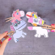 Clothespin Puppets for Kids Dive into the land of the fairy tales with this colorful set of unicorn clothespin puppets.Dive into the land of the fairy tales with this colorful set of unicorn clothespin puppets. Hobbies For Kids, Diy For Kids, Crafts For Kids, Arts And Crafts, New Crafts, Preschool Crafts, Unicorn Crafts, Unicorn Art, Fairy Tale Crafts