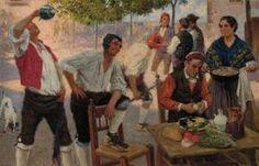 Juan Jose Garate y Clavero (Albalate del Arzobispo, Teruel, 1869 – 1939)- Fiesta en el campo
