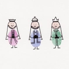 thumbprint wise men//cute idea each of the kids thumbprints for Xmas card