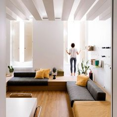 Architect Silvia Allori has overhauled a 1970s flat in Florence to create her home and workspace.