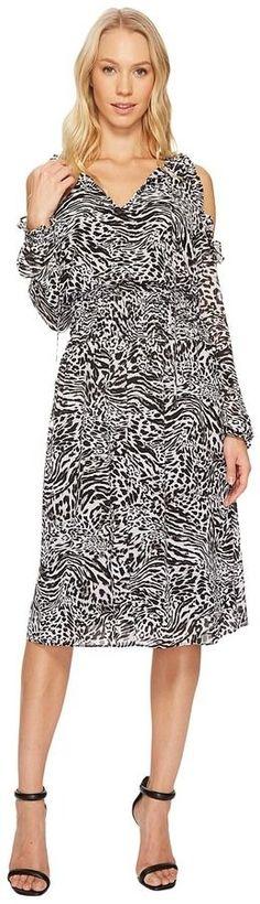 MICHAEL Michael Kors Big Cat Cold Shoulder Dress Women's Dress