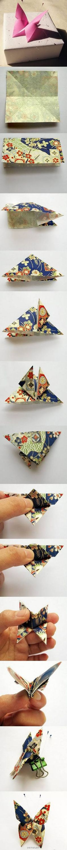 origami butterfly - im doing it now!