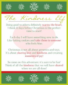 These Creative Juices: The Kindness Elf
