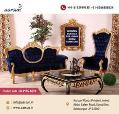 Best Royal Interior Living Room Furniture designed by Aarsun Woods. Living Room Interior, Living Room Furniture, Sofa Design, Furniture Design, Royal Sofa, Wooden Sofa Set, Royal Furniture, Chinese Furniture, Luxury Apartments