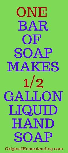 HOMEMADE LIQUID HAND SOAP From One Bar of Soap! Find out how to stretch one bar of soap to make gallon of pump soap. This is a huge saving! Learn this easy method to make your own handmade liquid soap in about 20 minutes. A super fun recipe that is the Liquid Soap Making, Liquid Hand Soap, Last Minute Birthday Gifts, Birthday Presents, Fee Du Logis, Homemade Hand Soap, Diy Crafts For Gifts, Cleaners Homemade, Diy Cleaning Products