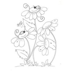 Crewel Embroidery, Hand Embroidery Patterns, Vintage Embroidery, Machine Embroidery, Embroidery Designs, Art Drawings For Kids, Doodle Drawings, Easy Drawings, Doodle Art