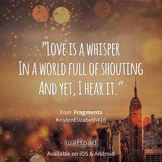 """""""Fragments"""" - #FreeBooks on @Wattpad"""