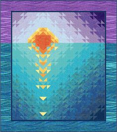 Sure would take a while to collect all the fabrics but it sure is pretty. Sunset at Sea quilt kit by Karen Bialik at Fons and Porter