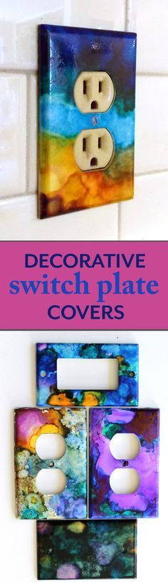 Decorate the switch plate covers in your home for a bold look!