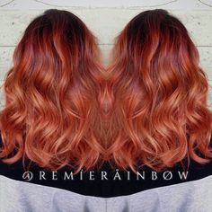 Copper hair color melt and hair painting.
