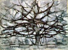 Piet Mondrian Gray Tree painting for sale - Piet Mondrian Gray Tree is handmade art reproduction; You can shop Piet Mondrian Gray Tree painting on canvas or frame. Piet Mondrian, Gray Tree, Black Tree, Wassily Kandinsky, Fine Art, Art Design, Graphic Design, Art Plastique, Art History
