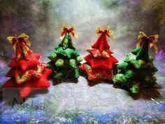 Vánoční stromeček z látky malý | Adelain Marsala, Christmas Ornaments, Holiday Decor, Handmade, Home Decor, Self, Hand Made, Decoration Home, Room Decor