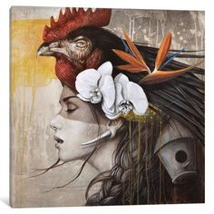 """East Urban Home La Nomade (the Nomad) Painting Print on Wrapped Canvas Size: 26"""" H x 26"""" W x 0.75"""" D"""