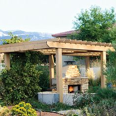 A pizza oven would look great on new lower level gravel area - back deck (want to build this in my yard someday but with vines and twinkle lights on the wood)