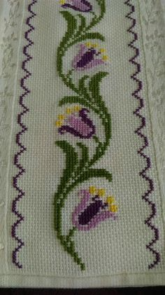 The most beautiful cross-stitch pattern - Knitting, Crochet Love Cross Stitch Bookmarks, Cross Stitch Borders, Modern Cross Stitch, Cross Stitch Flowers, Cross Stitch Designs, Cross Stitching, Cross Stitch Patterns, Hand Embroidery Stitches, Cross Stitch Embroidery