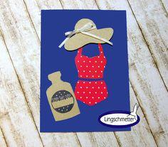 Einladungskarten - Einladung Kindergeburtstag Schwimmen PRETTY - ein Designerstück von Lingschmetter bei DaWanda