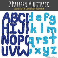 This Pattern Multipack includes copies of the Uppercase and Lowercase Alphabet motif patterns. You can use the finished motifs for appliqué on pillows, blankets, banners, garland…or sew two letters together for a cute 3D stuffie. Finished pieces are approximately 4 inches tall by 3.5 inches wide.