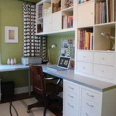 30 Corner Office Designs and Space Saving Furniture Placement Ideas – Home office design layout Furniture Placement, Craft Room Office, Ikea Home Office, House, Home, Modern House, Ikea Home, Home Office Design, Office Design