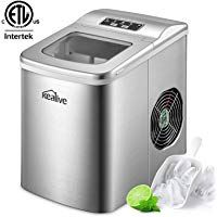 Portable Ice Maker Machine Kealive Stainless Steel Ice Maker 2l