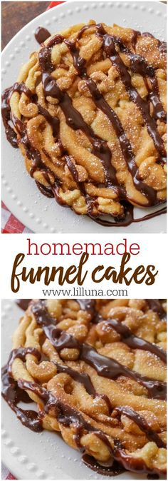The Rise Of Private Label Brands In The Retail Meals Current Market Bring The State Fair Home With This Homemade Funnel Cakes Recipe Easy And Delicious Recipe On A Yummy Batter That Can Be Topped With Hot Fudge Sauce, Caramel, Powdered Sugar, Whatever You Cake Recipe No Milk, Funnel Cake Recipe Easy, Homemade Funnel Cake, Homemade Cakes, Homemade Recipe, Recipe Recipe, Chocolate Funnel Cake Recipe, Churro Recipe, Chocolate Caramels
