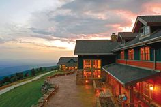 Hand-painted sunrises are waiting for you at The Lodge at Mount Magazine.