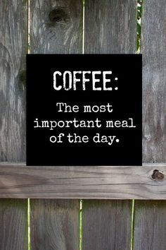 The Most Important Meal of the Day #MrCoffee #Coffee #CoffeeHumor