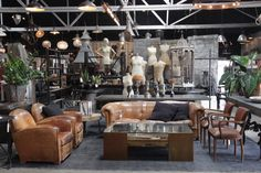 The latest scene of antique and custom furniture in our Los Angeles showroom. Rustic vintage leather, reclaimed custom creations, unique antique accessories and decor. http://bdantiques.com/