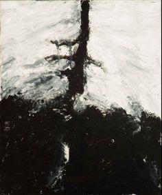 Der Baum Gesigneerd, getiteld en gedateerd 20-11-92 op spieraam Olieverf op doek, 60.2 x 50.1 cm