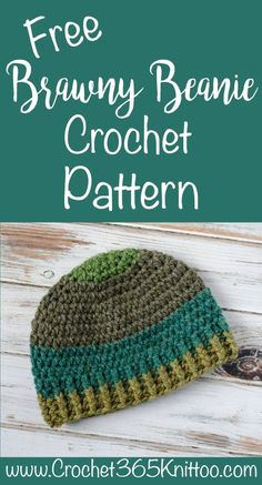 Crochet Men's hat! Use super bulky yarn to make this fun crochet men's beanie hat. Brawny Beanie Men's crochet hat! See other ideas and pictures from the category menu…. Beanie Pattern Free, Crochet Beanie Pattern, Crochet Patterns, Hat Patterns, Knitting Patterns, Mens Crochet Beanie, Crochet Hats, Crochet Dolls, Crochet Hat For Men