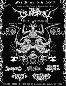 Long Live The Loud 666: FRIDAY 9 JUNE 2017 THE DUNGEON BENEFIT SHOWCASE WI...
