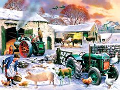 Looking for the perfect Winter Farm 250 Piece Wentworth Wooden Puzzle? Please click and view this most popular Winter Farm 250 Piece Wentworth Wooden Puzzle. Norman Rockwell, Sunsout Puzzles, Arte Country, Country Life, Country Living, Canvas Art, Canvas Prints, Puzzle Art, Farm Yard