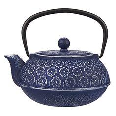 Blue Floral Cast Iron Teapot Kettle with Stainless Steel ... https://www.amazon.com/dp/B01J790MU2/ref=cm_sw_r_pi_dp_x_5v6cAbBZVSBXV