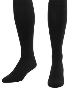 Compression Socks For Men Firm Graduated Support 20-30mmHg - Closed Toe - Black size Large - Absolute Support - Made in the USA -- See this great image  : Sports First Aid