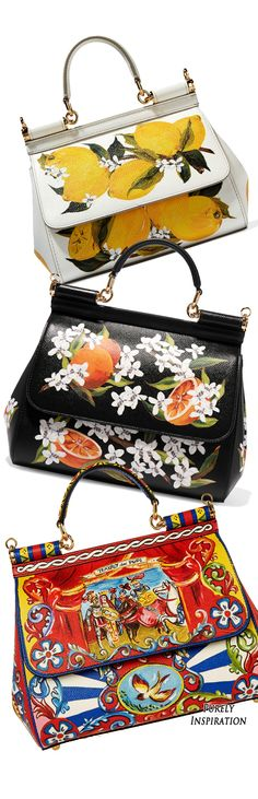 Dolce & Gabbana Sicily printed leather totes | Would black and orange be too much for work?