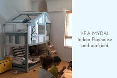 Ikea Etagenbett Mydal : Make an indoor playhouse bunk bed ikea mydal hack