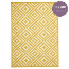 Yellow Diamond Indoor-Outdoor Rug