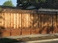 New Board on Board Fence with Lattice and Retaining Wall photo HandymanJobs023.jpg